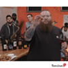 Action Bronson enjoying some crispy Korean-style Bonchon chicken