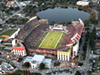 A photo of the Champs Sports Bowl between FSU and Notre Dame in 2011 shows where busses park outside the stadium during games.
