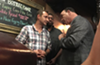 "Copper Rocket owner Selman Markovic (left) getting ""Taffer'd"