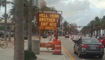 This Florida road sign eats ass