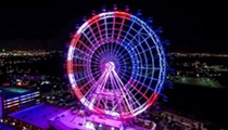 The ICON Orlando observation wheel will light up in Thailand's flag colors tonight