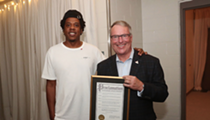 Here's Orlando Mayor Buddy Dyer just casually meeting Jay-Z