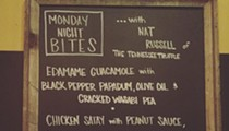 Tennessee Truffle's Nat Russell cooks at the Imperial Monday night