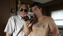 Randy and Mr. Lahey from the cult Canadian comedy 'Trailer Park Boys' get in character at Backbooth Saturday