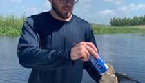 'Florida Man' uses alligator to shotgun a beer while cranking Skynyrd
