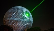 Epcot's Spaceship Earth transformed into the Death Star last night