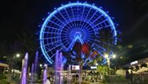 Orlando Eye lit blue tonight in honor of this morning's fallen deputies