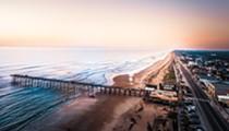 Stroll along Flagler Beach's six miles of cinnamon-red coquina sand facing the Atlantic Ocean
