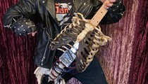 A Tampa musician has made a guitar from his uncle's skeleton … or has he?