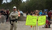 Protesters dragged out and arrested after climbing inside a section of the Sabal Trail pipeline