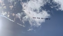 Plane carrying 'Tick Tock Matt Gaetz' banner flies over Orlando federal courthouse as Joel Greenberg agrees to cooperate with feds