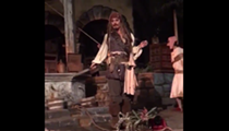 Johnny Depp randomly appeared in the Pirates of the Caribbean ride