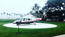 Trump's private helicopter is using the Mar-a-Lago helipad, which is against the law