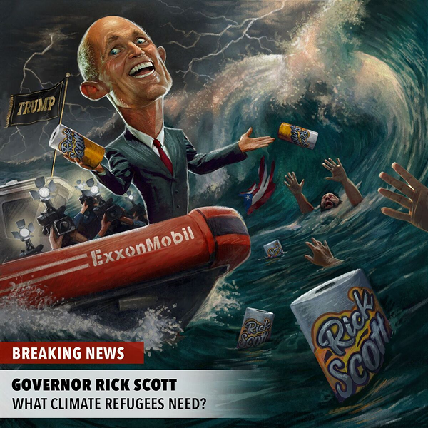 Progressive Puerto Rican group launches ad attacking Rick Scott over climate change