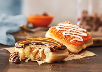 Time for pumpkin everything, Part 1: DD rolls out Pumpkin Cheesecake donut