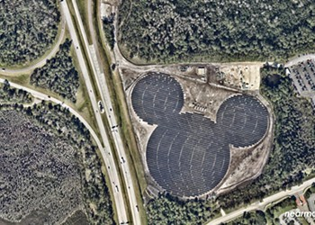 Solar-powered hidden Mickey takes shape at Walt Disney World