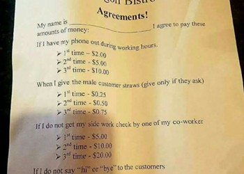 Florida restaurant wants employees to pay out of pocket for doing a bad job