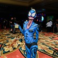 BASE Orlando breaks out the superhero body paint for premiere at Ferg's Depot