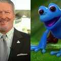 Orlando Mayor Buddy Dyer is the voice of this cartoon cowboy frog