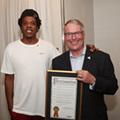 Here's Orlando Mayor Buddy Dyer just casually meeting Jay-Z