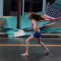 Shirtless Florida man travels to Myrtle Beach to head bang during Hurricane Florence