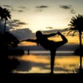 Unwind from the weekend with a free sunset yoga class at the Polasek