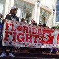 Rally in Orlando celebrates New York's $15 minimum wage victory