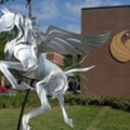 Someone vandalized UCF's Pegasus statue and the whole thing was caught on video