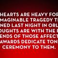 Tony Awards dedicate tonight's ceremony to Orlando victims