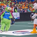 Sports mascots compete in fun challenges to help sick kids at the annual Mascot Games