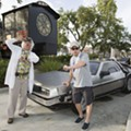Michael J. Fox reunited with his DeLorean at Universal Studios Orlando
