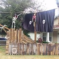 A Kissimmee resident is trying to get rid of this massive pirate ship yard display