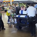 Video shows Florida gentleman driving golf cart into same Walmart evacuated on Sunday
