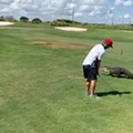 Central Florida golfer keeps golfing, despite 7-foot gator walking next to him