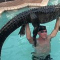 Shirtless Florida man removes 9-foot alligator from swimming pool