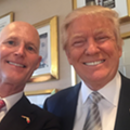 Rick Scott's lunch with Donald Trump draws fire from Democrats