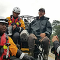 Orlando firefighters have rescued 50 people in Houston from Harvey floods