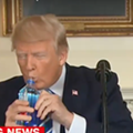 A very thirsty Donald Trump had his own Marco Rubio water bottle moment today