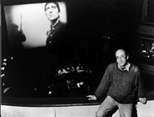 PHOTO COURTESY BACH FESTIVAL SOCIETY - Richard Einhorn at a rehearsal for the 'Voices of Light' premiere, 1994.
