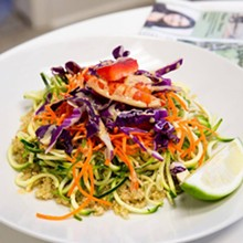 IMAGE VIA NEW MOON MARKET/FACEBOOK - Vegan Pad Thai Salad at New Moon Market