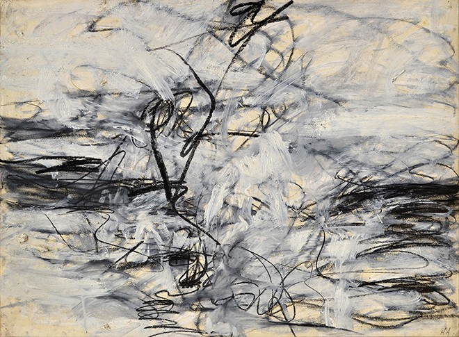 Untitled, 1952. Oil and charcoal on paper mounted to canvas. Courtesy of McCormick Gallery. - MARY ABBOTT