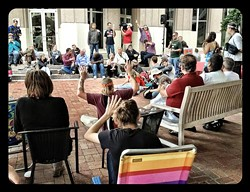 Valerie Cepero of Occupy Orlando speaks to the People's Convention