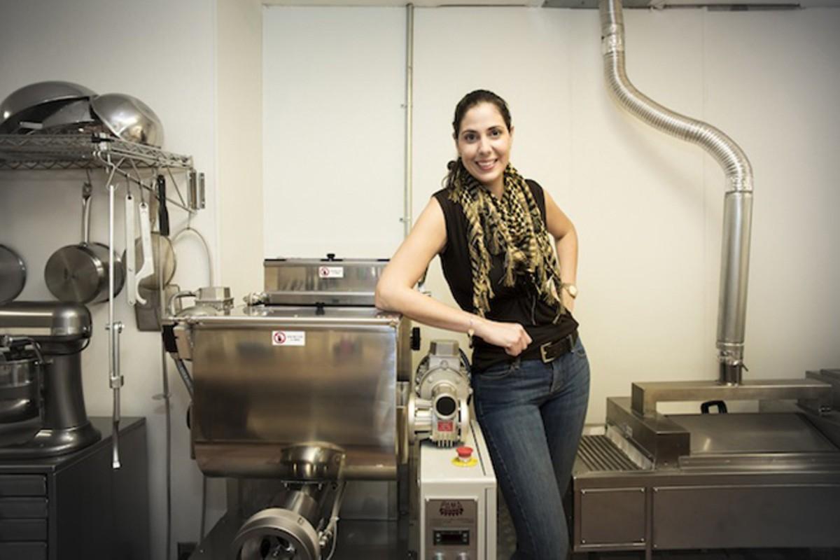 Vanessa Falcone in the kitchen at Trevi Pasta in College Park
