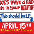 It's tax day. Lessen the sting with these free or cheap eats