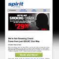 "Spirit Airlines goes for the low-hanging fruit with its ""We're not smoking crack"" ad"