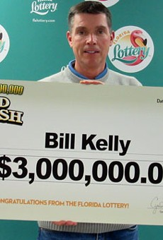 We hope Billy Kelly, whose dog's identity has not been revealed, renames his dog Lucky. And maybe gives him a steak. Or maybe even a whole cow.