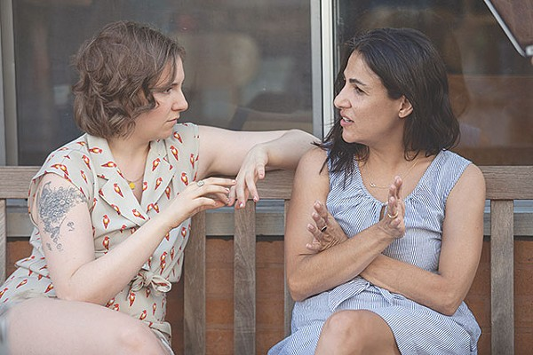 PHOTO OF LENA DUNHAM AND JENNI KONNER BY JESSICA MIGLIO FOR HBO