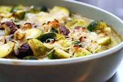 You want this: Brussels sprouts and chestnuts in brown butter, via Smitten Kitchen (photo by Deb Perelman/Smitten Kitchen)