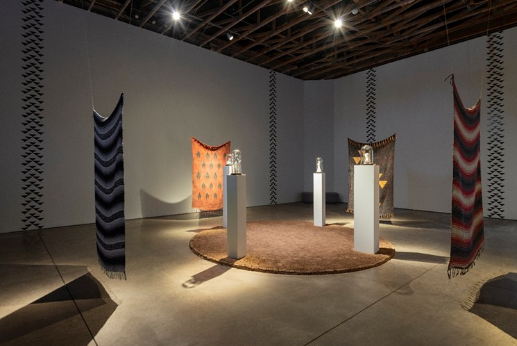 Jacob A. Meders'  And It's Built on the Sacred installation at Scottsdale Museum of Contemporary Art. - CLAIRE A. WARDEN