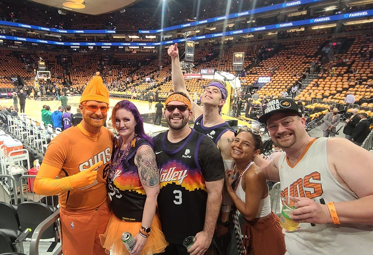 Phoenix Suns superfans at Staples Center in Los Angeles during the Western Conference Finals. - PAUL NICOSIA